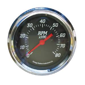 "Instrument Gauges, 3-3/8"" Tach, Black Face Photo Main"