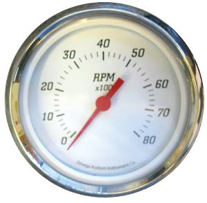 "Instrument Gauges - 5"" Tach, White Face Photo Main"