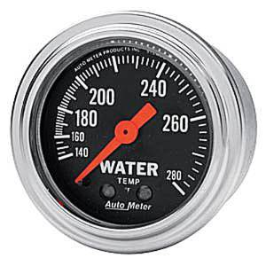 "Instrument Gauges - Auto Meter Traditional Chrome Series 2-1/16"" Temp Gauge. Mechanical 140-280 Deg., Full Sweep Photo Main"