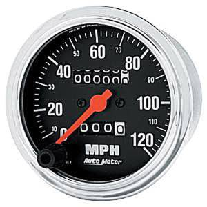 "Instrument Gauges - Auto Meter Traditional Chrome Series 3-3/8"" 0-120 Mph Mechanical Speedometer Photo Main"