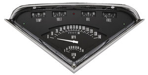 Instrument Gauges-Black Tach Force With White Pointer 12v Photo Main