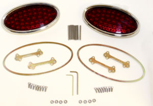 "Tail Light, LED. Lokar, Billet Oval-Standard, Low Profile 2-3/4"" X 5-1/2"" 12 Volt Photo Main"