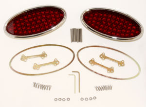 "Tail Light, LED Lokar, Billet Oval-Standard, Low Profile 3"" X 6-1/2"" 12 Volt Photo Main"
