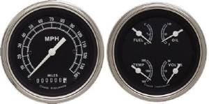 Instrument Gauges - (2 Gauge Set) - Traditional Series With Flat Lens 12v Photo Main