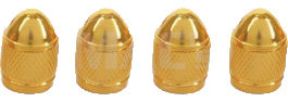 Valve Stem Caps Aluminum - Bullet Shaped, Gold Photo Main