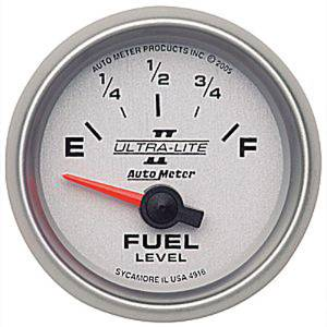 "Instrument Gauges - Auto Meter Ultra Lite Ii 2-1/16"" Fuel Level Gauge. Electric 240-33 Ohm, Short Sweep Photo Main"