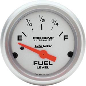 "Instrument Gauges - Auto Meter Ultra Lite Series 2-1/16"" Fuel Level Gauge. Electric 0-90 Ohm., Short Sweep Photo Main"
