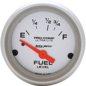 "Instrument Gauges - Auto Meter Ultra Lite Series 2-1/16"" Fuel Level Gauge. Electric 16-158 Ohm., Short Sweep Photo Main"