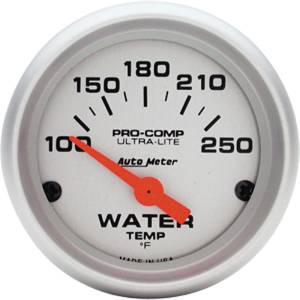"Instrument Gauges - Auto Meter Ultra Lite Series 2-1/16"" Temp Gauge. Electric 100-250 Deg., Short Sweep Photo Main"