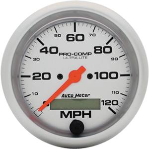 "Instrument Gauges - Auto Meter Ultra Lite Series 3-3/8"" 0-120 Mph Electronic/ Programmable Speedometer Photo Main"