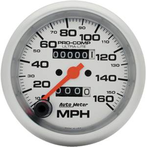 "Instrument Gauges - Auto Meter Ultra Lite Series 3-3/8"" 0-160 Mph Mechanical Speedometer Photo Main"