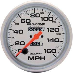 "Instrument Gauges - Auto Meter Ultra Lite Series 5"" 0-160 Mph Mechanical Speedometer Photo Main"