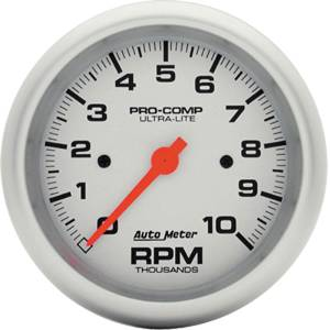 "Instrument Gauges - Auto Meter Ultra Lite Series 3-3/8"" 0-10,000 Rpm Tachometer Photo Main"