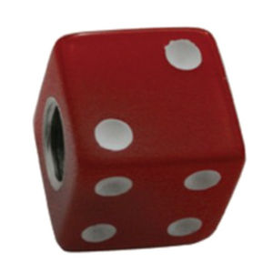 Dice Valve Stem Caps - Red With White Dots Photo Main