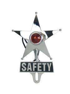 License Plate Topper- Chrome Safety Star  Photo Main