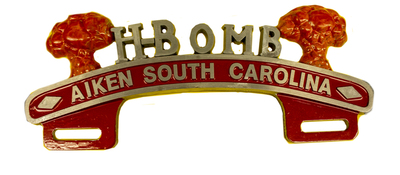 License Plate Topper- H-Bomb Aiken South Carolina Photo Main