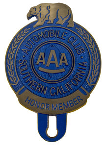License Plate Topper- AAA So-Cal Honor Member Photo Main