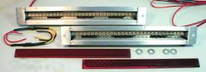 "Led Flush Mount Tail Lights - Long 15-1/4"" Wide Kit. Dual Intensity For Tail, Brake & Signals 12 Volt Photo Main"