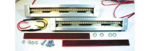 "Led Flush Mount Tail Lights - Short 7-1/2"" Wide Kit. Dual Intensity For Tail, Brake & Signals 12 Volt Photo Main"
