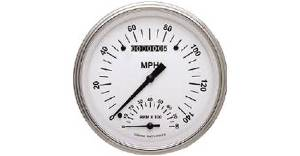 Instrument Gauges - Speedtachular Speedo Tach Combo - White Hot Series With Flat Lens 12v Photo Main