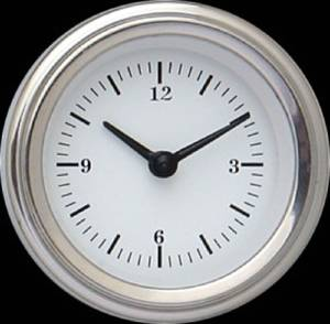 "New Classic Instruments Clock 2-1/8"" With Reset Button - White Hot Series 12v Photo Main"