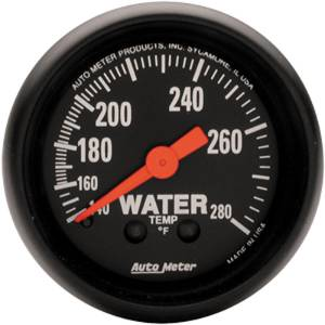 "Instrument Gauges - Auto Meter Z Series 2-1/16"" Temp Gauge. Mechanical 140-280 Deg., Full Sweep Photo Main"