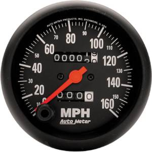"Instrument Gauges - Auto Meter Z Series 3-3/8"" 0-160 Mph Speedometer. In-Dash Mount Photo Main"