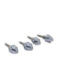 Parts -  Chrome Bullet Wing Nut License Fastener