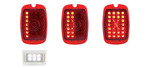 Chevrolet Parts -  Tail Light Lens, LED - (Red Lens) Sequential Left Side With Led License Light 12 Volt