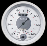 "Parts -  Classic Instruments 5"" Speedtachular Speedo-Tach Gauge - All American Series 12v"
