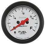"Parts -  Instrument Gauges - Auto Meter Phantom Series 2-1/16"" Fuel Level Gauge. Electric Fully Programmable 0-280 Ohm., Short Sweep"