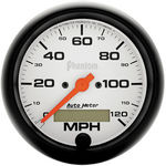 "Parts -  Instrument Gauges - Auto Meter Phantom Series 3-3/8"" 0-120 Mph Electronic/ Programmable Speedometer"