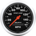 "Parts -  Instrument Gauges - Auto Meter Sport Comp Series 3-3/8"" 0-160 Mhp Electronic/ Programmable Speedometer"