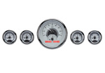Chevrolet Parts -  Dakota Digital - VHX Universal 5 Round Gauge System With Chrome Bezel Alloy Style Face - Red Backlight