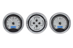 "Chevrolet Parts -  Dakota Digital - VHX Universal 3 5"" Gauge System With Chrome Bezel Alloy Style Face - Blue Backlight"