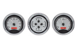 "Chevrolet Parts -  Dakota Digital - VHX Universal 3 5"" Gauge System With Chrome Bezel Alloy Style Face - Red Backlight"
